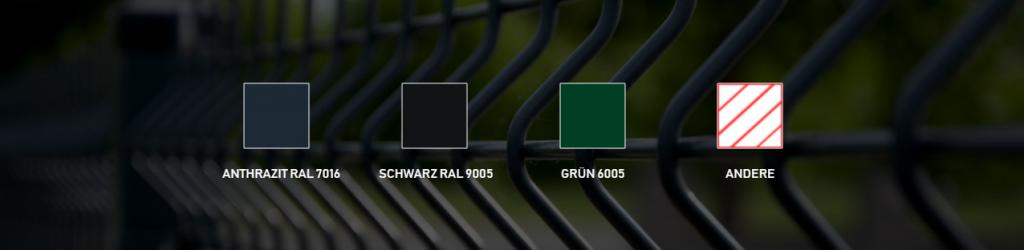 Welche Farbe der Doppelstabmattenzäune? - Ampanel.de