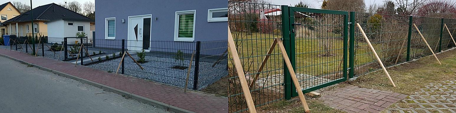 Stabmattenzaun einfach - Ampanel.de